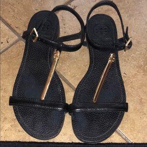 All Black Tory Burch Sandal